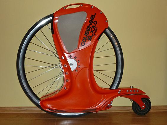 Gördeszka biciklikerékkel: gauswheel