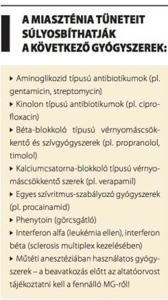 látás és myasthenia gravis)